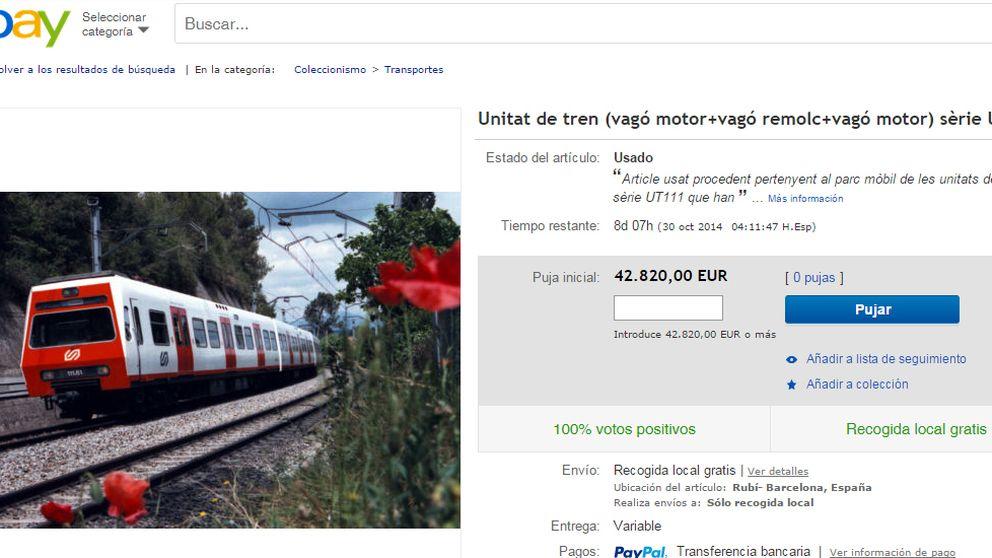 La Generalitat subasta trenes en eBay, completos o desguazados