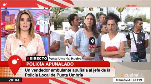 Chaparro se encara con la hermana del hombre que apuñaló al policía en Huelva