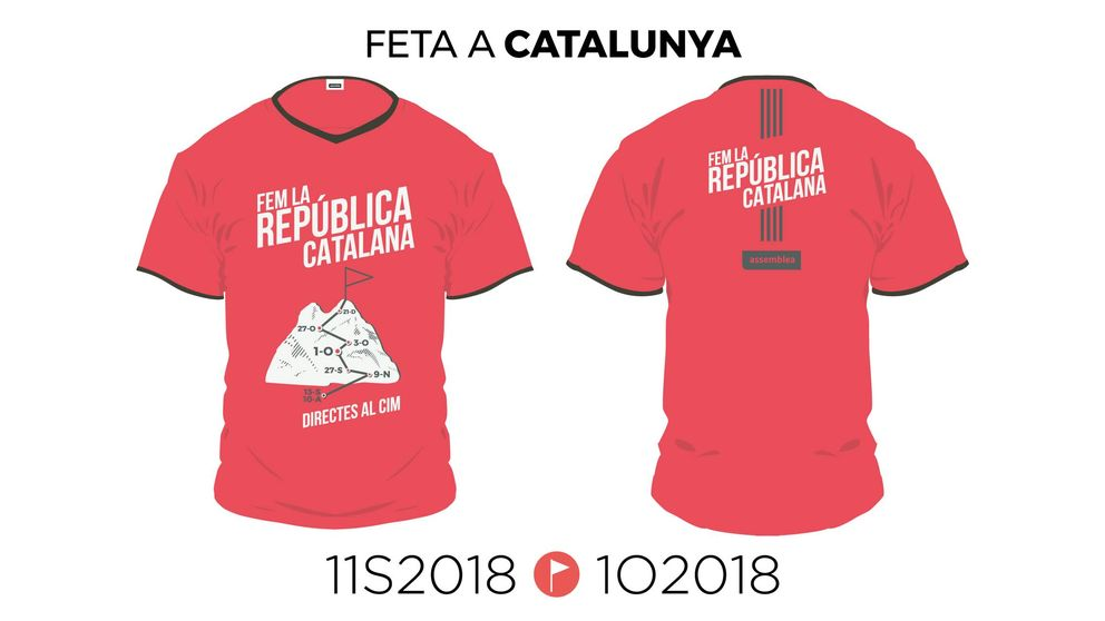 La 'samarreta' de la Diada 2018: así es la camiseta para hacer cima en la República