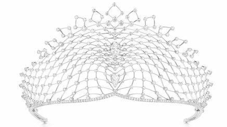 Rebecca Bettarini lucirá la tiara Lacis de la firma Chaumet en el día de su enlace. (Foto: Chaumet)