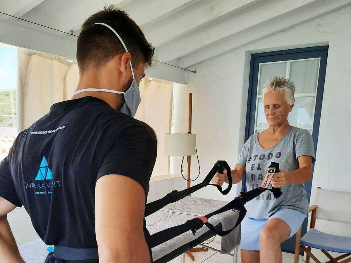Foto: Mercedes Milá, entrenando. (IG)