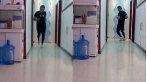 Este hombre corre 50 km en casa mientras está encerrado por el coronavirus