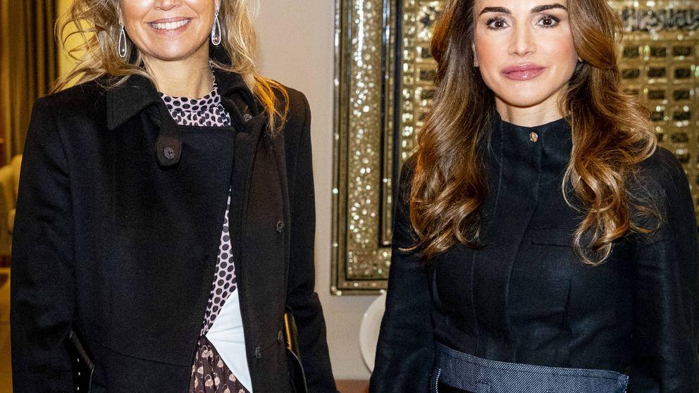 La frescura de Máxima vs. la artificiosidad de Rania en su encuentro en Jordania