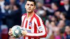 Morata está alterado: Simeone tampoco le considera el 'nueve' del Atleti