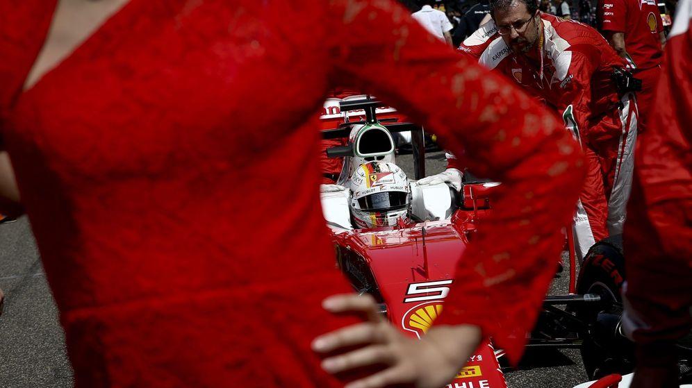 Foto: Sebastian Vettel en la parrilla de salida del pasado GP de China.