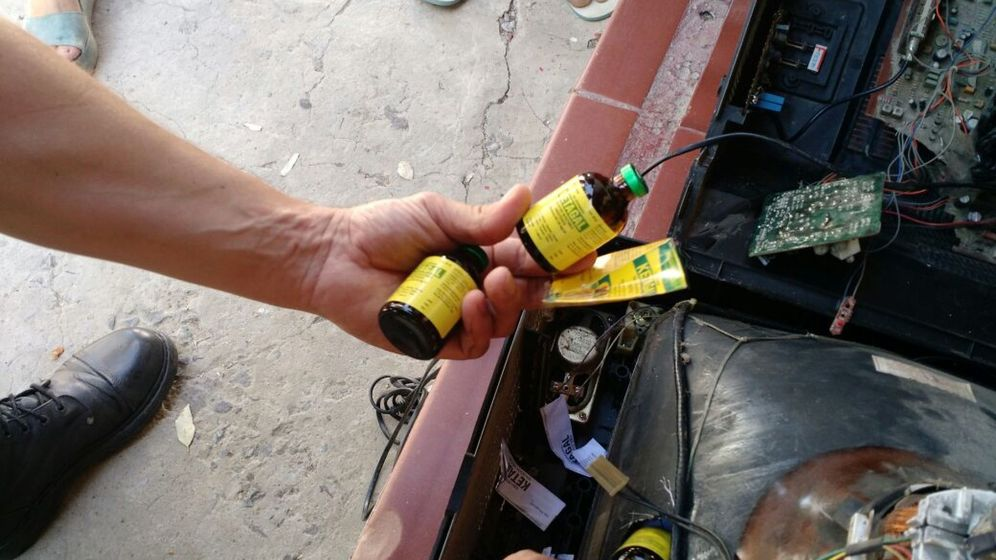 Foto: Ketamina siendo introducida ilegalmente. (EFE)
