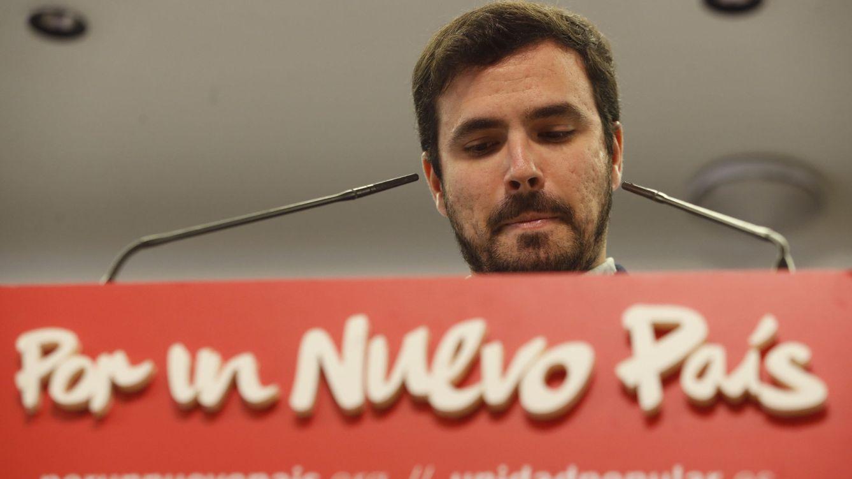 Foto: Alberto Garzón, el pasado 20 de diciembre en la sede de IU, donde compareció para valorar los resultados de las elecciones generales. (EFE)