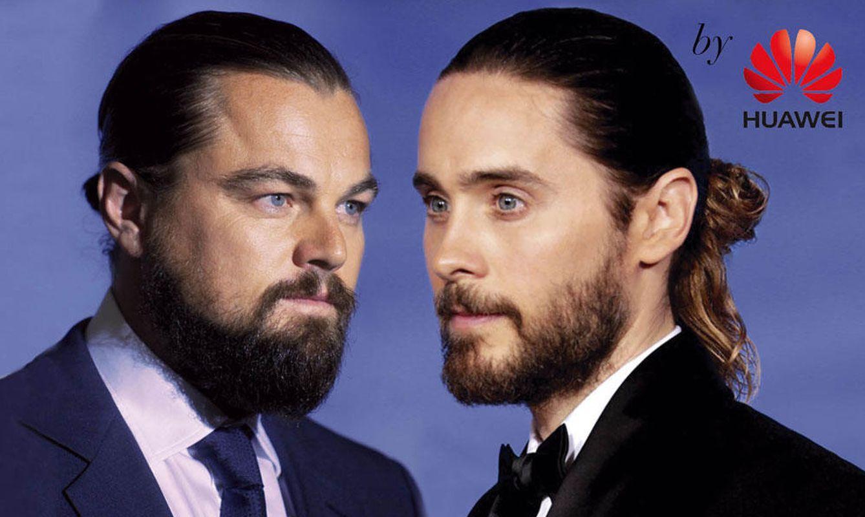 Foto: Leonardo DiCaprio y Jared Leto han sido dos de los precursores del moño masculino (Vanitatis)