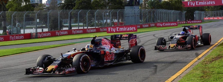 Foto: El Toro Rosso de Sainz terminó por delante del de Verstappen en Australia.