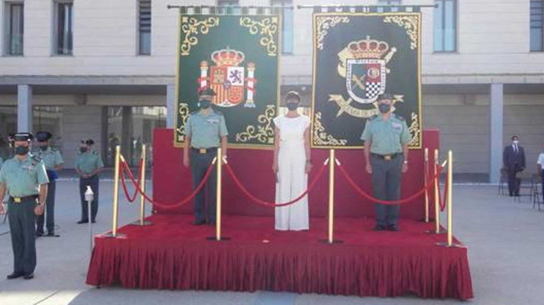 Gámez, en el acto de los oficiales del cuerpo en Aranjuez. (DGGC)