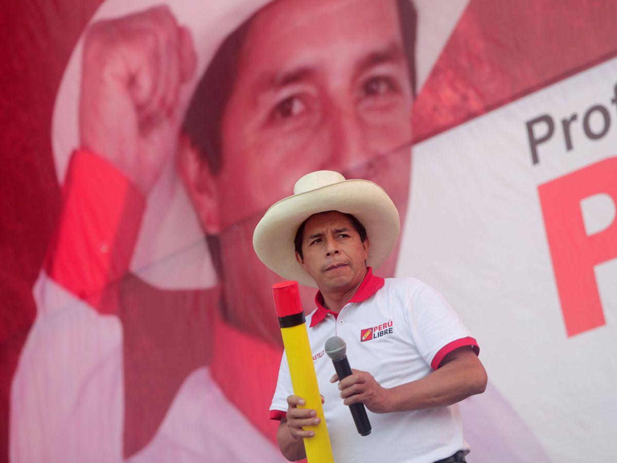 Foto: El candidato socialista peruano, Pedro Castillo. (Reuters)