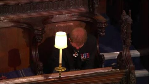La significativa imagen en soledad del príncipe Harry en el funeral de su abuelo