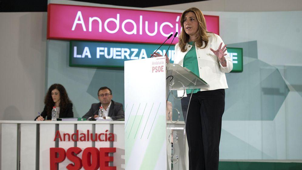Foto: Susana Díaz, durante su intervención ante el Comité Director del partido. (EFE)