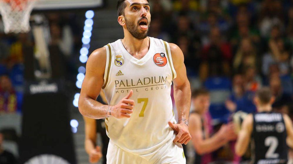 Foto: Facundo Campazzo, durante el partido de cuartos de final entre el Real Madrid y el RETAbet Bilbao Basket. (ACB Photo)