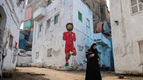 Mural del futbolista egipcio Mohamed Salah