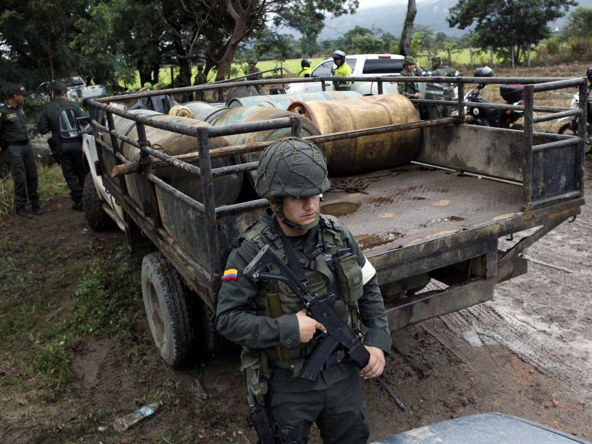 Foto: Un soldado del Ejército colombiano durante una operación en la frontera con Venezuela en Cúcuta, Colombia. (Reuters)