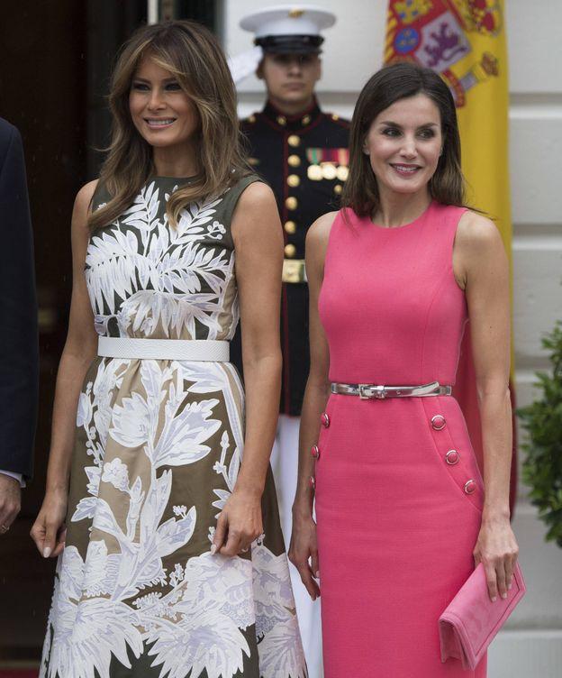 Foto: Melania Trump y la reina Letizia, el martes en la Casa Blanca. (Gtres)