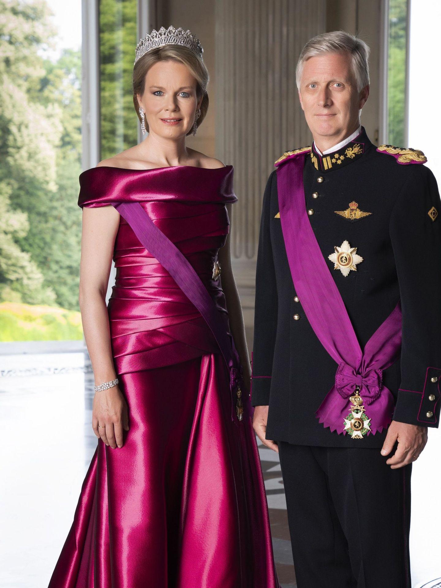 Los reyes de Bélgica, Felipe y Matilde. (Palacio Real de Bélgica)