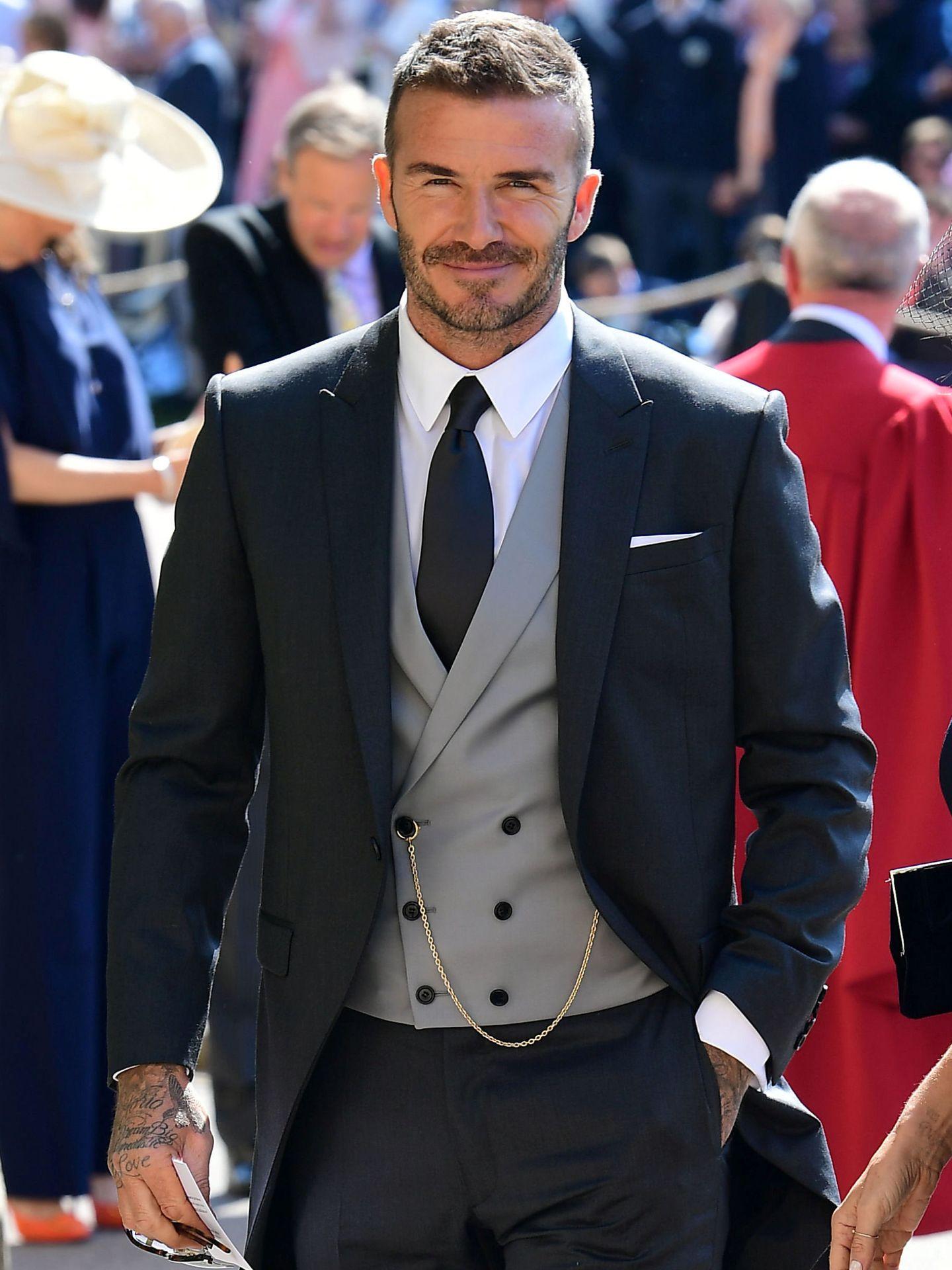 David Beckham, en la boda del príncipe Harry y Meghan Markle. (Reuters)