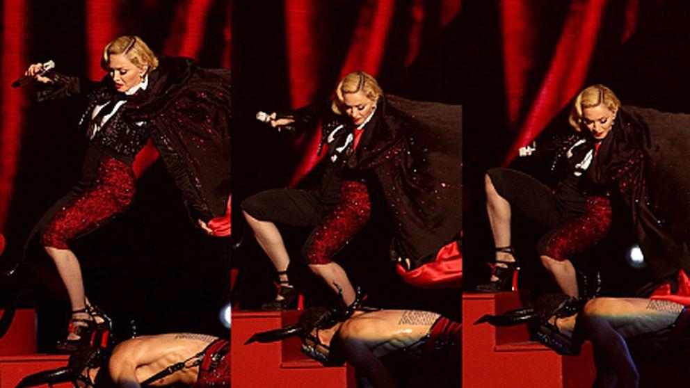 La aparatosa caída de Madonna en los Brit Awards