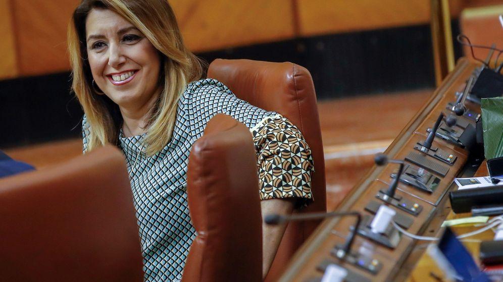 Foto: La líder del PSOE-A, Susana Díaz, en su escaño durante la sesión de control al Ejecutivo. (EFE)