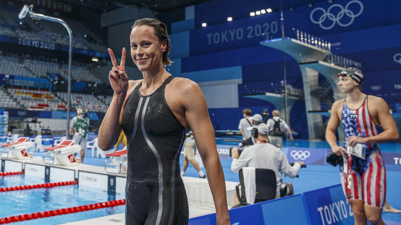 Foto: Federica Pellegrini durante la semifinal de 200m estilo libre. (EFE)