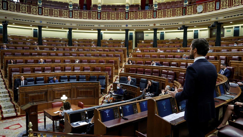 Pablo Casado, el pasado 27 de mayo en la sesión de control al Gobierno en el Congreso. (EFE)