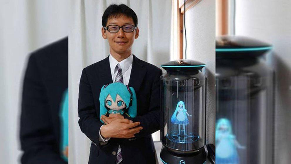 Un japonés se casa con un holograma virtual
