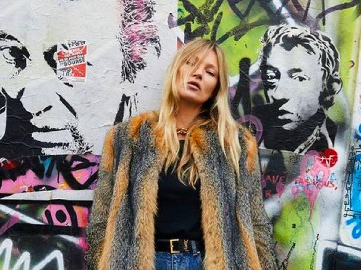 Foto: Kate Moss. (Instagram Saint Laurent)
