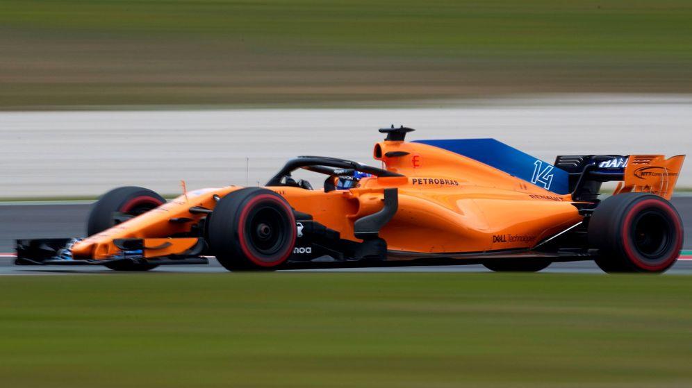 Foto: Fernando Alonso durante esta pretemporada en Montmeló. (EFE)