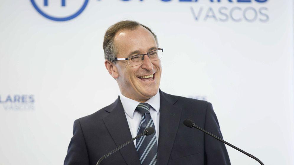 Foto: Alfonso Alonso durante la rueda de prensa. (EFE)