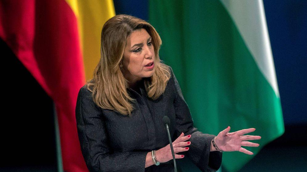 Foto: La presidenta de la Junta, Susana Díaz, en el acto de entrega de las Medallas de Andalucía, este 28-F. (EFE)