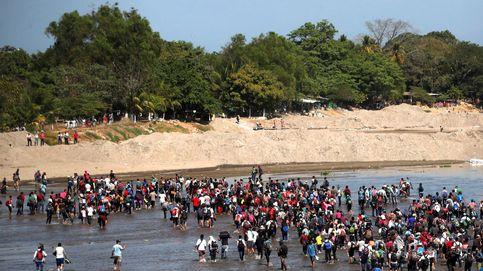 Cruce en la frontera de Guatemala con México