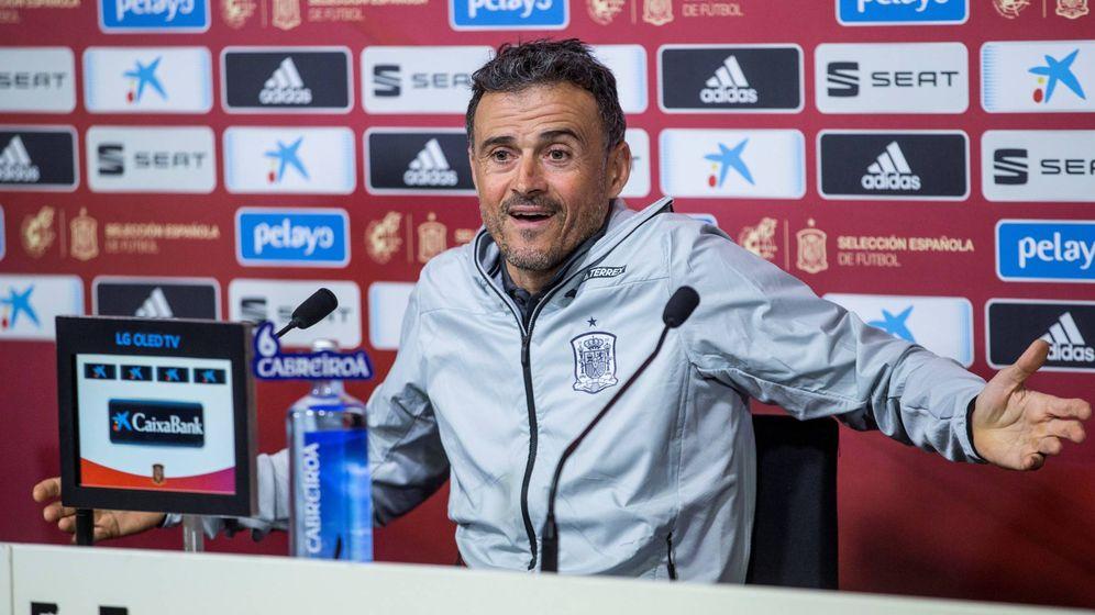 Foto: El seleccionador nacional, Luis Enrique, durante la rueda de prensa. (EFE)
