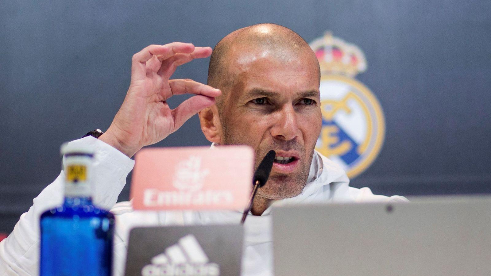 Foto: Zidane, en una reciente rueda de prensa. (EFE)