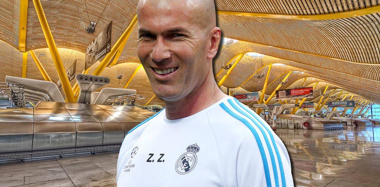 Foto: Zidane en un fotomontaje realizado en Vanitatis