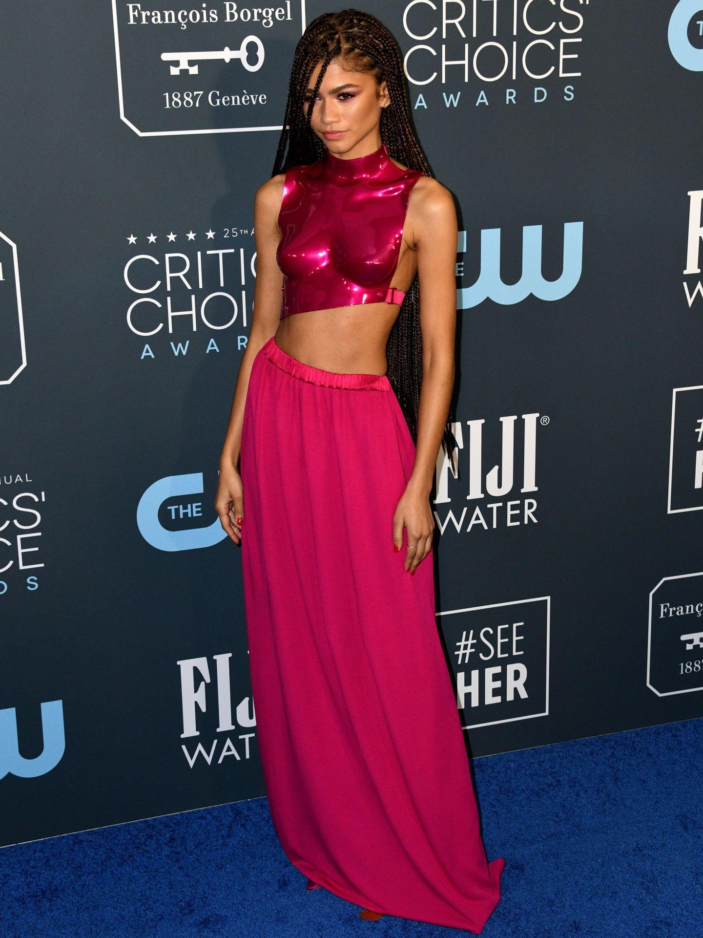 Zendaya, en la alfombra de los Choice Awards 2020. (EFE)