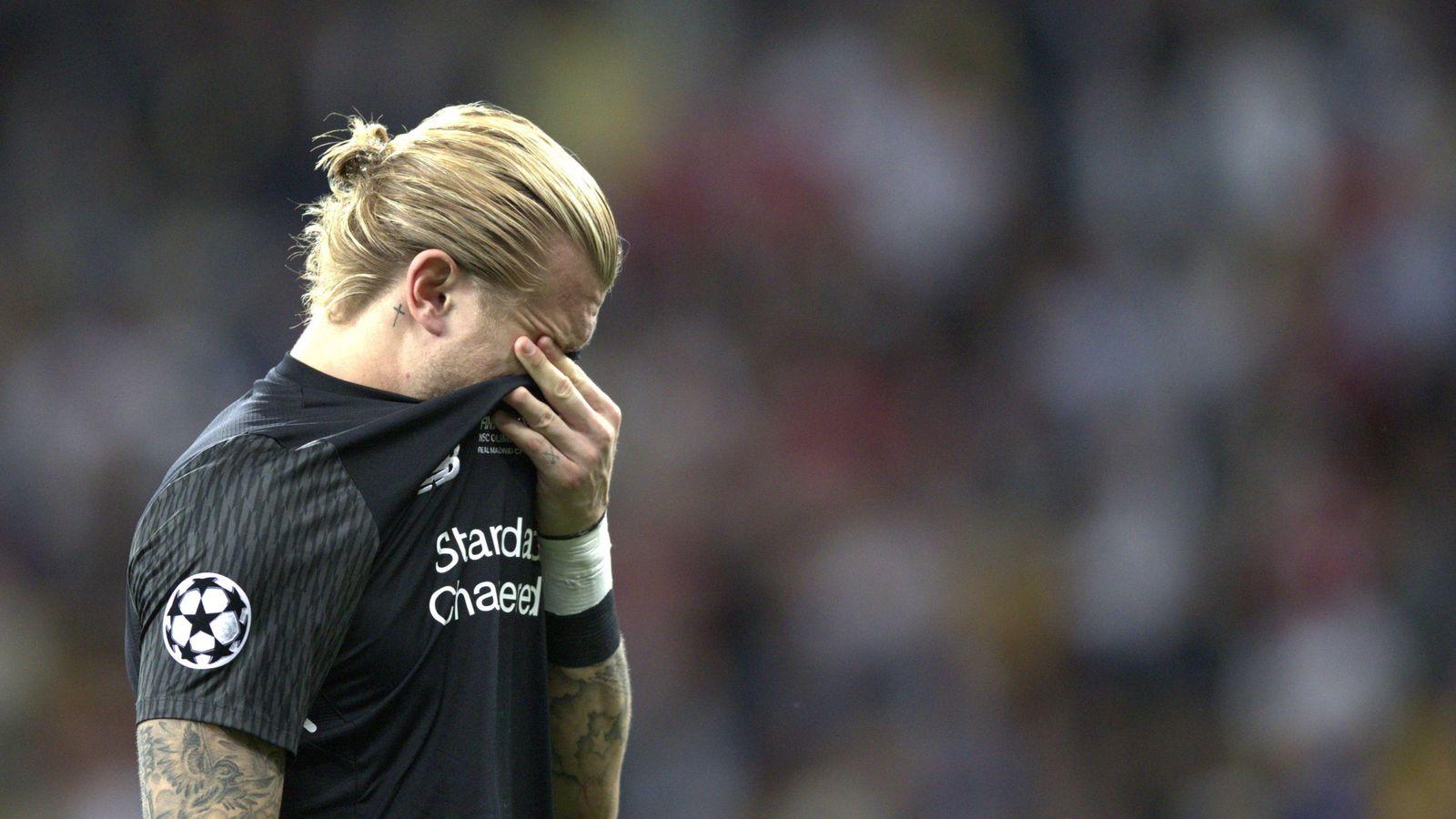Foto: Karius llora tras el gol de Bale. (Reuters)