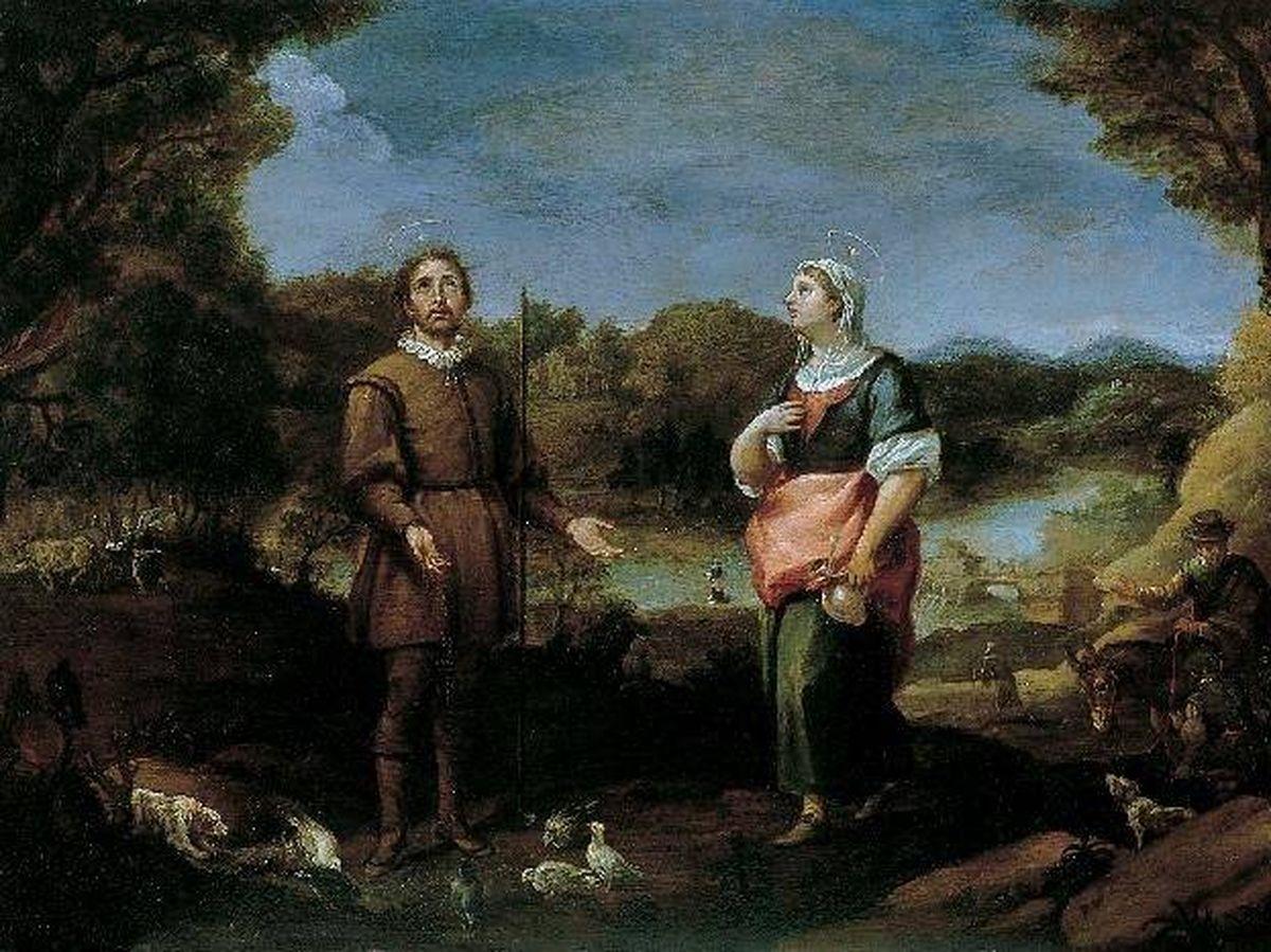 Foto: 'San Isidro Labrador y Santa María de la Cabeza', obra de Alonso del Arco