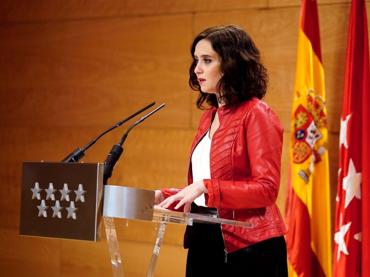 Foto: La presidenta del Gobierno de la Comunidad de Madrid, Isabel Díaz Ayuso.