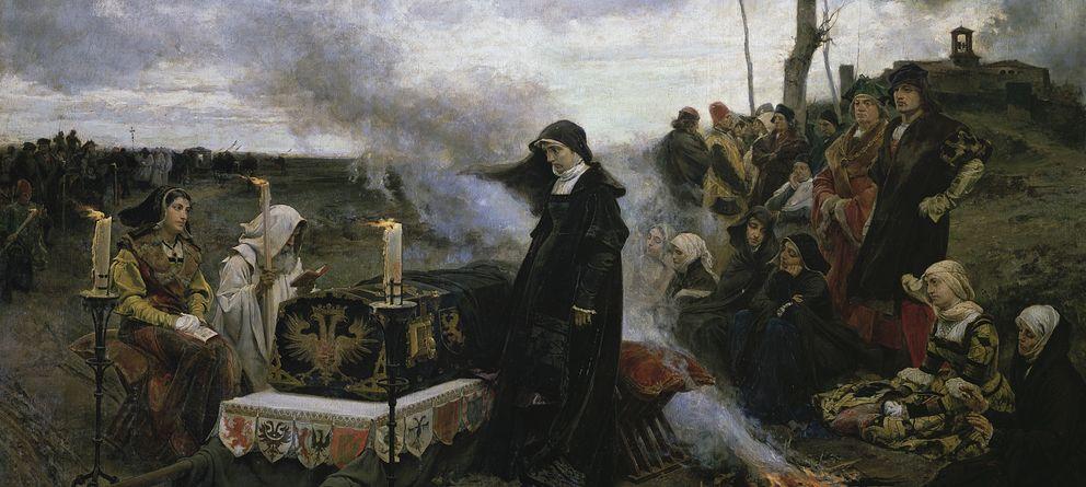 Foto: Juana la Loca velando el cadáver de Felipe el Hermoso. (Francisco Padilla)