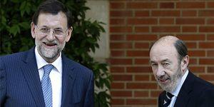 Rubalcaba y Rajoy viven su 'luna de miel' con Europa y la renovación del TC