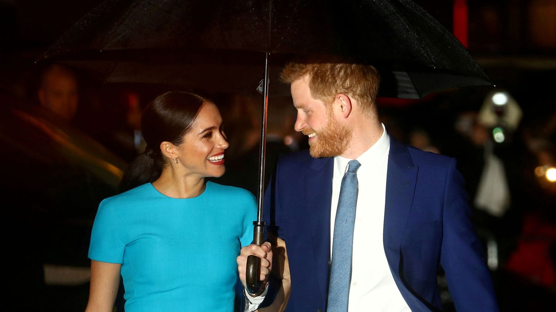 Meghan y Harry, en uno de sus últimos compromisos públicos. (Reuters)