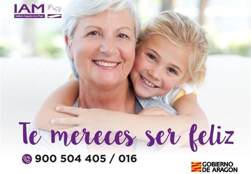Foto: Campaña contra la violencia de género en mujeres mayores del Instituto Aragonés de la Mujer.