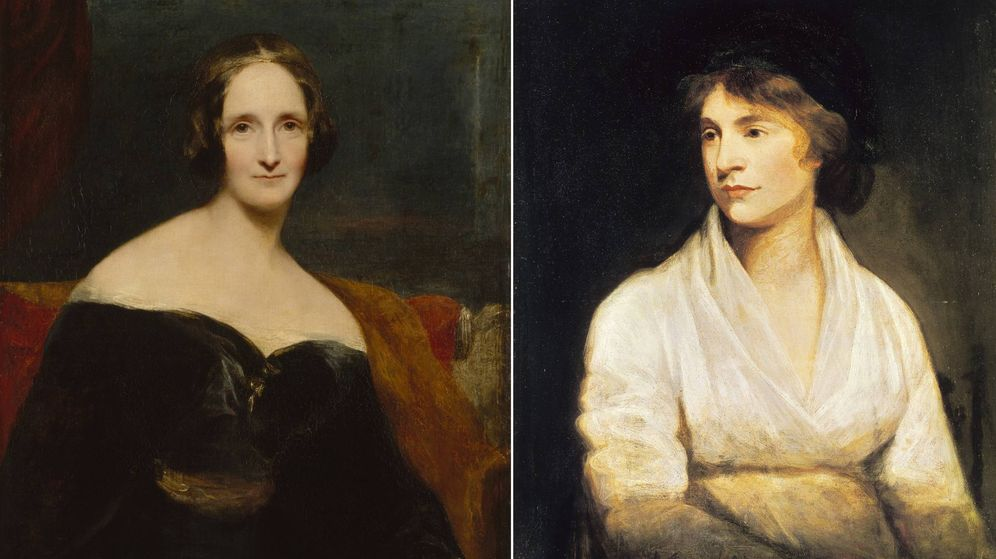 Foto: Mary Shelley y Mary Wollstonecraft.
