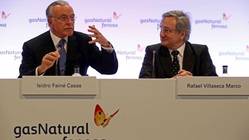 Foto:  El presidente Gas Natural Fenosa, Isidro Fainé, y el consejero delegado, Rafael Villaseca. (EFE)