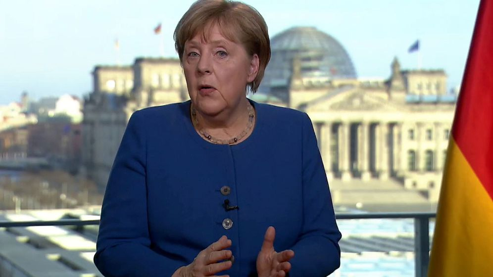 Foto: Angela Merkel, en su intervención del miércoles 18. (EFE)