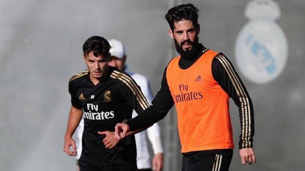 Foto: Isco en un entrenamiento con el Real Madrid en Valdebebas. (instagram Isco)