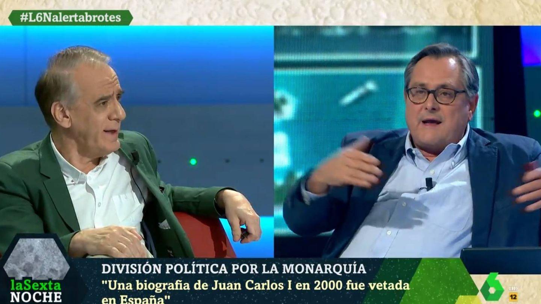 Cembrero y Marhuenda debatiendo en el programa de Iñaki López. (La Sexta).