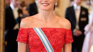 La gran 'performance' londinense de la reina Letizia